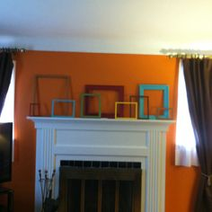 My mantle art with painted frames that I created!