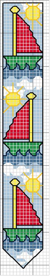 Bordi Natura, Bordino, Bordino Stelle, Bordo-4, Bordo Barche, Bordo Cuoricini. - Schemi Punto Croce