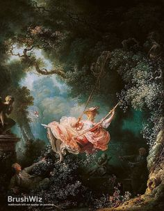 The Happy Accidents Of The Swing by Jean-Honore Fragonard - Oil Painting Reproduction - BrushWiz.com