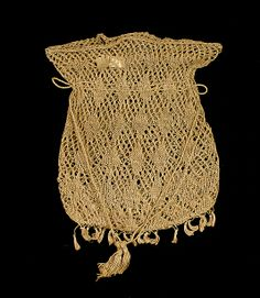 Knit Bag, 1840-1850. American. Cotton. Brooklyn Museum Costume Collection at The Metropolitan Museum of Art.