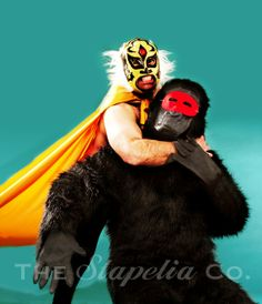 Lucha Libre Gorilla Wrestling 2 Art Photo by thestapeliacompany, $20.00