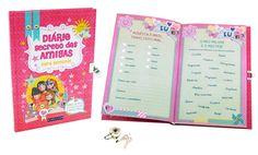 Diário Secreto das Amigas | Um diário com cadeado para anotar todos os segredos!