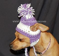 Earflap hat for small dogs