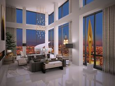 Best $30,000,000 New York City Duplex - Trump Soho - The base price for the city's top trophy apartments has doubled to an unprecedented $50 million over the past year, thanks to an influx of foreign house-hunting billionaires.