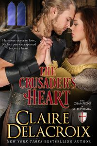 The Crusader's Heart by Claire Delacroix, a medieval romance and in the Champions of Saint Euphemia series. Historical Romance Books, Romance Novels, Book Review Blogs, Great Books, Bestselling Author, Claire, Books To Read, Ebooks, Reading