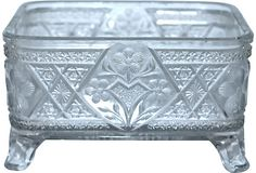Vintage Glass Footed Dish