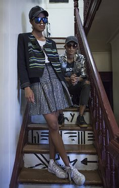 Coco and Breezy's Staircase Portrait