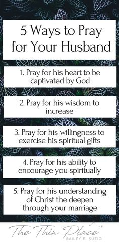 5 Ways to Pray for Your Husband - The Thin Place #marriage #pray #wifelife #christian #faith