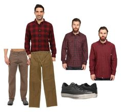 """Gordon"" by wearthis-1 on Polyvore featuring Royal Robbins, Woolrich, Hurley, Vans, Filson, Converse, men's fashion and menswear"
