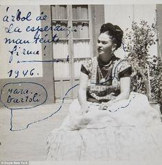 Pet names: Frida signed her letters to Jose 'Mara', whichbiographer Hayden Herreraexplai...