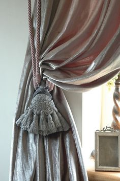 Pink and Grey Concrete Tassel Tieback by Ghost Furniture Pics, via Flickr