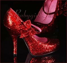 Red and glittery sparkles!!!!!!!!
