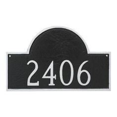 Montague Metal Products Classic Arch Estate One Line Address Plaque Finish: Antique Copper/Copper