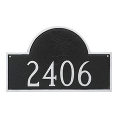 Montague Metal Products Classic Arch One Line Address Plaque Finish: Black/Gold