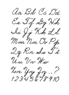 Free Printable Cursive Alphabet Chart Writing All Letters