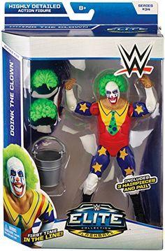 Amazon.com: DOINK THE CLOWN - WWE ELITE 34 MATTEL TOY WRESTLING ACTION FIGURE by Wrestling: Toys & Games
