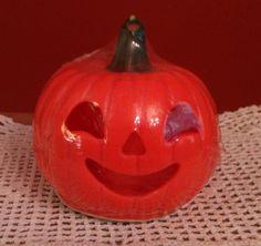 Gurley small pumpkin cut out jack o lantern candle original Halloween near mint vintage