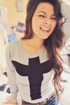 Cross sweater<3