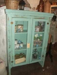 an old cabinet  revived