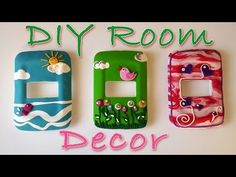 Diy Crafts: How To Decorate a Light Switch Cover - Ana | DIY Crafts - YouTube