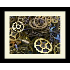 Found it at Wayfair - Industrial Gears Framed Photographic Print