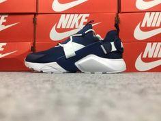 4817c7f3953 Nike Air Huarache City Low Men s Running Sports Shoes Dark Blue   White  AH6804-700