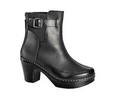 Anja - black clog boots