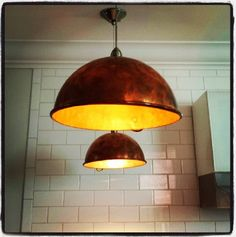 all new vintage copper mixing bowl pendant lights from atelier 688 available soon bowl pendant lighting