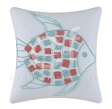 Fish Hooked Throw Pillow