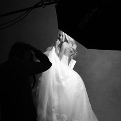 The making of WHITE by #VeraWang @davidsbridal ad campaign. @pascaldangin @patrickdemarchelierofficial""
