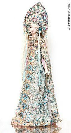 Russian Snow Maiden ~ Enchanted Doll by Marina Bychkova