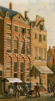 The Rembrandt House| J.M.A. Rieke, Gezicht op het Rembrandthuis in 1868