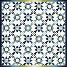 Zara - California Snowflake - Quilt by Janna Thomas, Bloc Loc