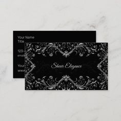 Elegant Hair Salon or Boutique Business Cards Classy and elegant business card design created with an ornate floral design background and ability to feature your business or professional name on the front and your business details on the flip side in this double side business card template ready to customize online. #Artist Fashion Business Cards, Elegant Business Cards, Business Card Design, Elegant Hairstyles, Salons, Floral Design, Templates, Boutique, Artist