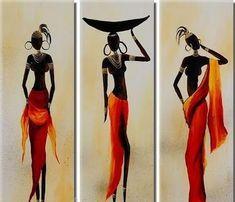Cuadros Tripticos , Polipticos, Africanos Modernos - $ 2.185,00 en Mercado Libre