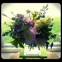 Mix of snapdragons, dahlias, stock, lavender...  Roberts Flowers of Hanover, Hanover, NH