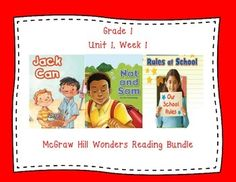 This first grade interactive journal is aligned to Common Core and to the McGraw Hill Wonders series for Unit 1 Week 1. These journal entries allow students to be engaged while reading the text.  These can easily be folded to fit in the students composition books or journals.