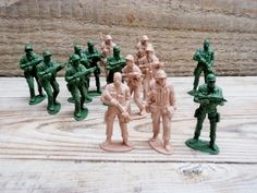 Vintage Plastic Soldiers Army Military Men by GuestFromThePast