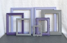 Purple/lilac/gray frames. Add in a few pale pink too.
