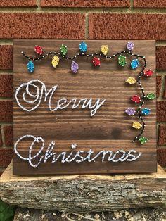 Merry Christmas string art