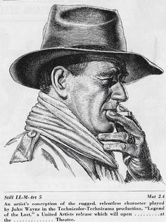John Wayne in Legend of the Lost John Wayne Quotes, John Wayne Movies, Wayne Family, Kelly Smith, Cowboy Pictures, Horse Anatomy, Jennifer Jones, Celebrity Portraits, American Actors