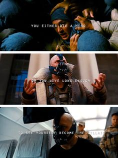 I just realized how what happened to Harvey happened to Bane!! :'(