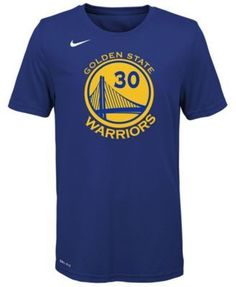 Nike Stephen Curry Golden State Warriors Icon Name & Number T-Shirt, Big Boys (8-20) - Blue XL