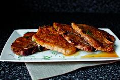 // Pork chops with cider-dill horseradish