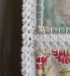 Fusion quilt patchwork met gehaakte rand Klaar om te