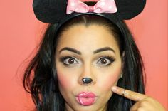 Minnie Mouse Eye Makeup Halloween Makeup Minnie Mouse The Style Brunch Minnie Mouse Eye Makeup Minnie Mouse Makeup And Hair Tutorial Easy Halloween Costume. Minnie Maus Halloween, Up Halloween, Easy Halloween Costumes, Halloween Makeup, Diy Costumes, Halloween Dress, Mini Mouse Costume Womens, Minnie Mouse Costume, Minnie Mouse Pink
