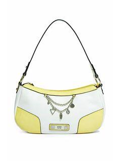 Guess Senuri Top Zip Handbag White Multi 7e8a5c21bcae1