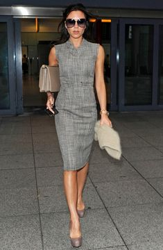 Victoria Beckham Photo - Victoria Beckham at Heathrow Airport