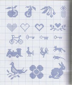 fruits keys cross stitch