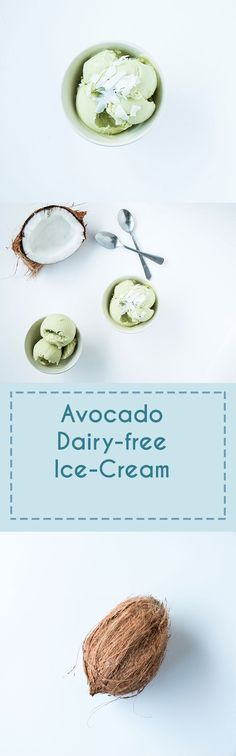 Delicious, creamy, vegan avocado ice cream. Perfect for any summers day!
